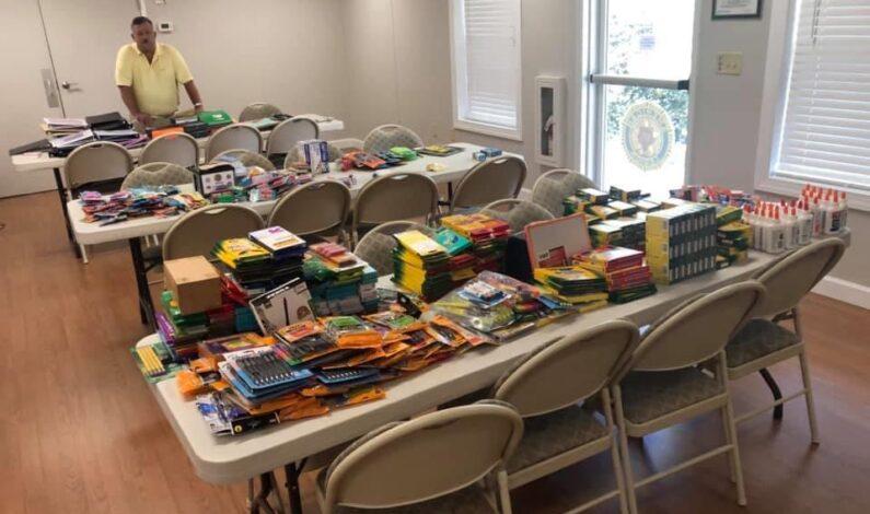 American Legion Post 187 school supply drive a success