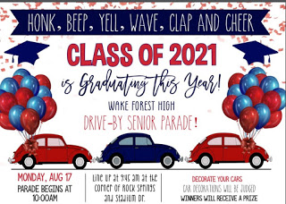 WFHS drive-by senior parade, Aug. 17