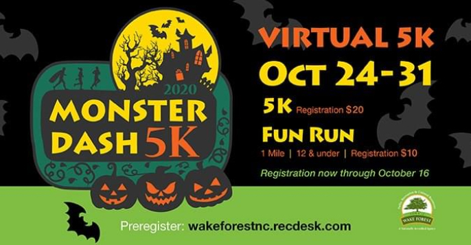 Register now for Monster Dash Virtual 5K & Kids' 1-Mile Fun Run