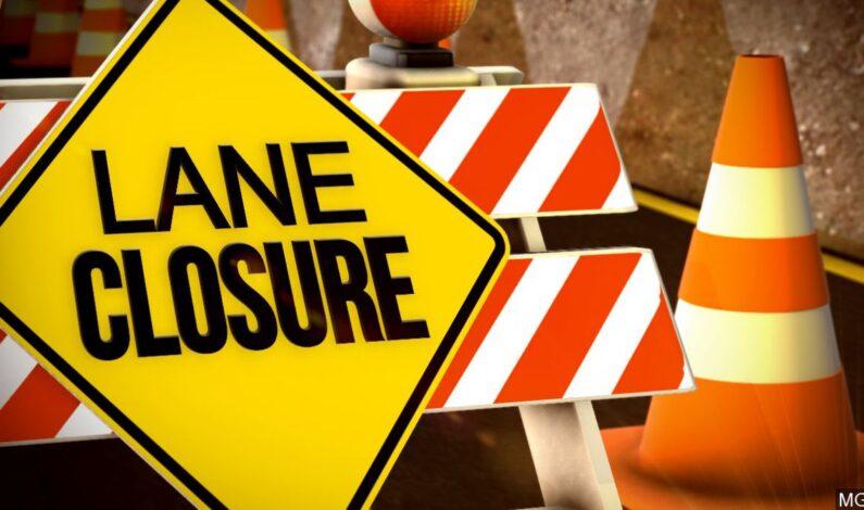 Road closure Jan. 9-10