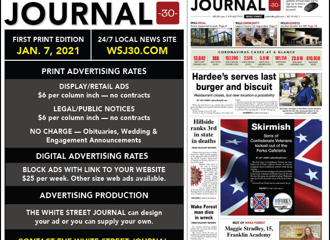 Advertising Rates for WSJ30.com and print edition
