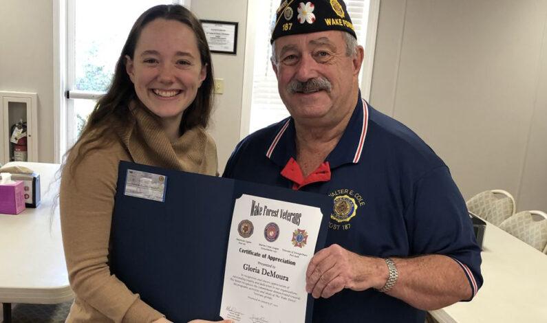 DeMoura honored by veterans
