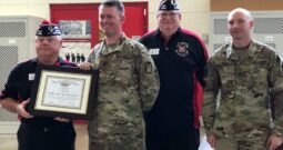 Wake Forest VFW Post 8466 ceremoniously adopts the Louisburg National Guard Unit