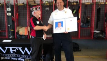Wake Forest Fire Fighter honored with National VFW Award